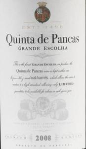 キンタ・デ・パンカス・グランデ・エスコーリャ2008(赤)