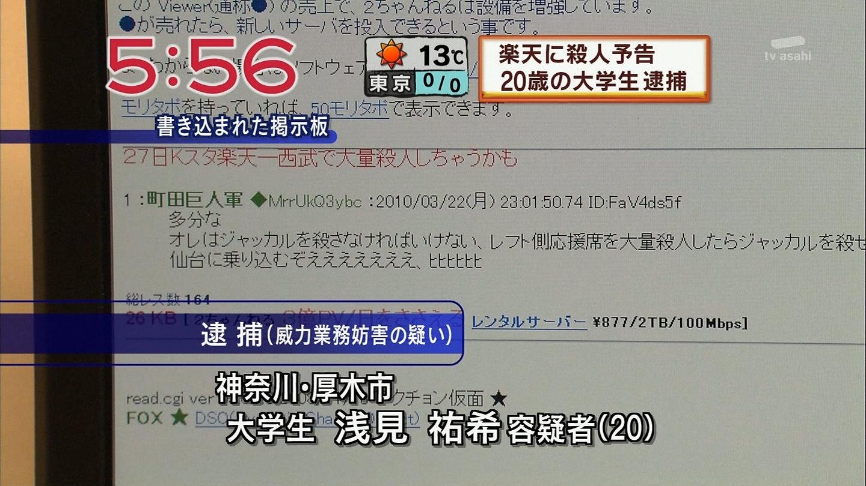 町田が逮捕されたらしい画像